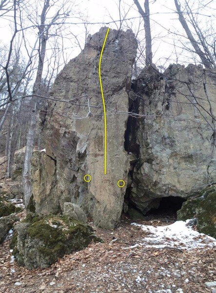 Rock Climbing Photo: Fourth Boulder.  This was taken as a pano so it's ...
