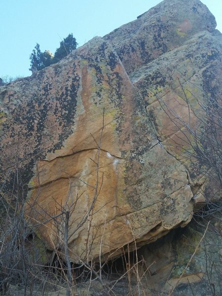 Rock Climbing Photo: Unknown climb at the Dark Side of Morrison Boulder...