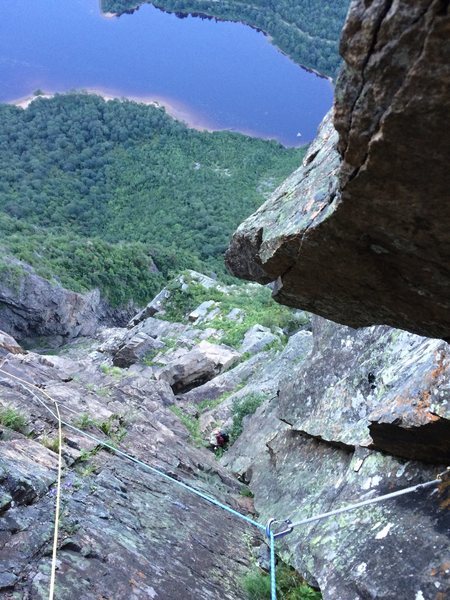 Rock Climbing Photo: Looking down in the middle of pitch 8 !