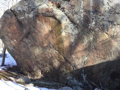 Rock Climbing Photo: The Darkling (V11) follows the incipient, left-tre...