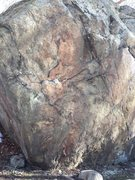 Rock Climbing Photo: Fault Line (V4-V5). Very height-dependent and sort...
