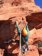 Rock Climbing Photo: Derek killing the last pitch of goliath. Its the d...