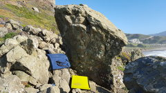 Rock Climbing Photo: pads setup for 3/4 traverse from north to south