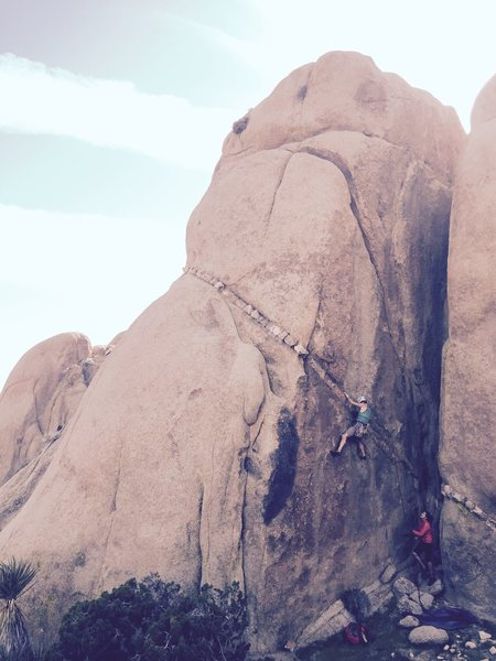 "Rock Climbing Photo: Great lead with just the right amount of ""her..."