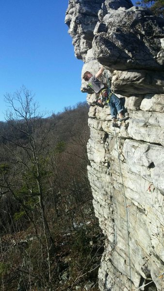 Sending the gnar on Illusion Right (5.8+)