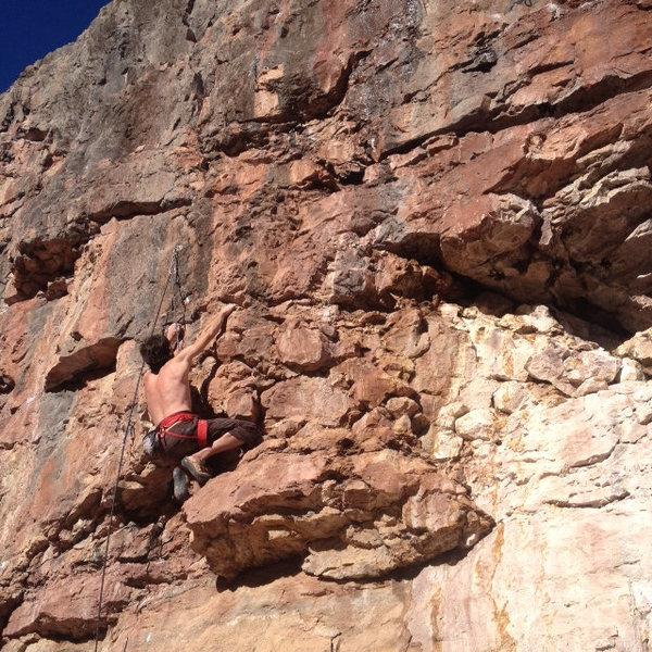 Rock Climbing Photo: Ryan right before the crux.