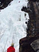 Rock Climbing Photo: Matt D on belay.  Mike Sturgeon photo.