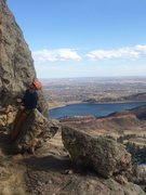 Rock Climbing Photo: Standing on the giant belay ledge, starting pitch ...