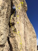 Rock Climbing Photo: The line that is hard to read, but spectacular to ...