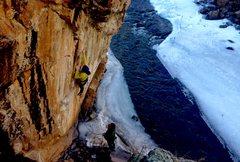 Rock Climbing Photo: Ryan Nelson working on Corona.  Photo by Ben Scott...
