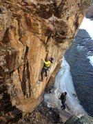 Rock Climbing Photo: Ryan Nelson working Corona.  Photo by Ben Scott.