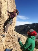 Rock Climbing Photo: Mandy, embarking on her redpoint send of the &quot...
