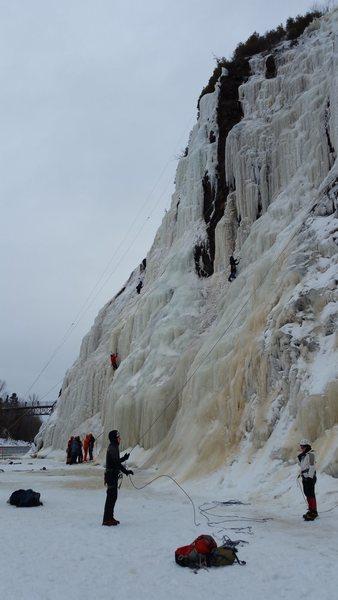 Rock Climbing Photo: View looking north towards the foot bridge, taken ...