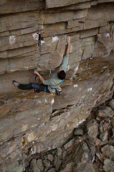 Rock Climbing Photo: Crux Sequence