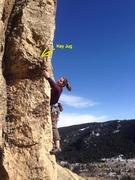 Rock Climbing Photo: The key jug