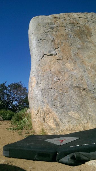 Rock Climbing Photo: Left side, just a few feet right of the arête.
