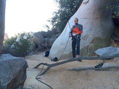 Rock Climbing Photo: Belaying robins crack Mt woodsen