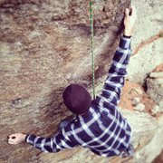 Rock Climbing Photo: Jeremy, rocking the steep compression