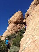 Rock Climbing Photo: Kid TR day up Hyperion Slab.