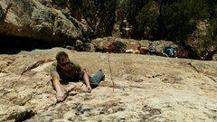 Rock Climbing Photo: Near the top of Love Pump.
