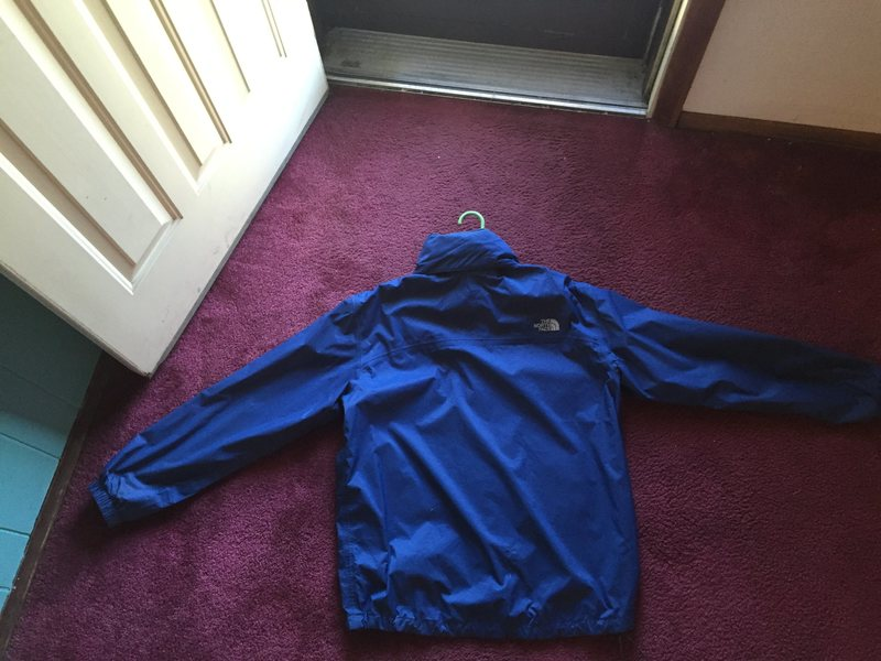 Back of North Face Rain Jacket