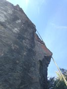 Rock Climbing Photo: Orange Arete 5.11a. To the right of Little Eiger.