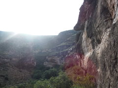 Rock Climbing Photo: Looking downcanyon from the base of Violince Wall....