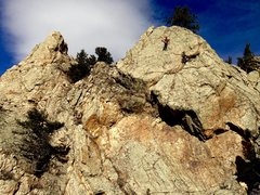 Rock Climbing Photo: Hofer on the upper slab.