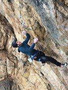 Rock Climbing Photo: Ryan working beta.