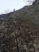 Rock Climbing Photo: On the Onsight, fun mixed route for HCR