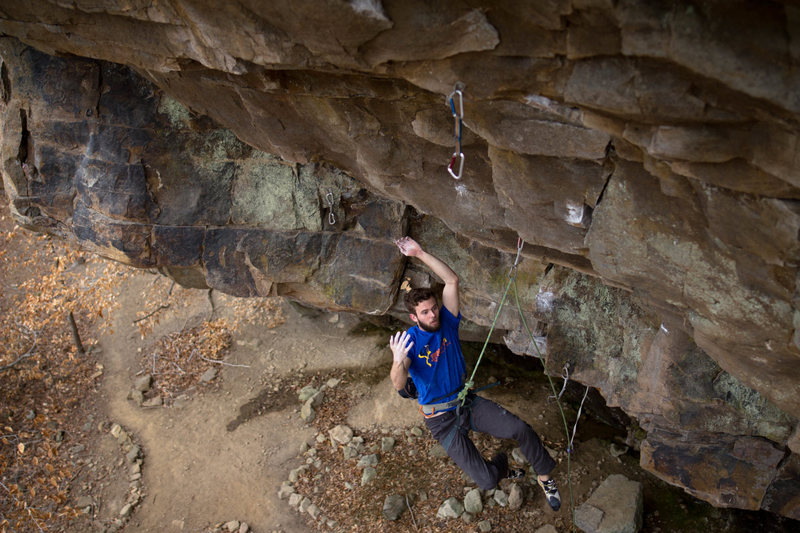 Rock Climbing Photo: Fire Wall
