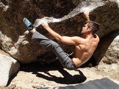 Rock Climbing Photo: Humpin in my paisley madrocks.