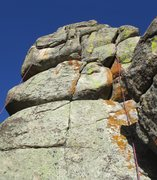 Rock Climbing Photo: 'Cracked' follows the line the rope and gear ascen...