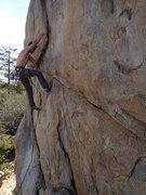 Rock Climbing Photo: That bastard flake.