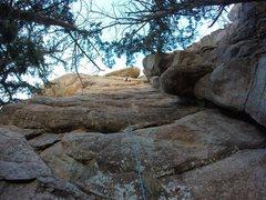 Rock Climbing Photo: Jaden Gann working through the Crux. The lowest pr...