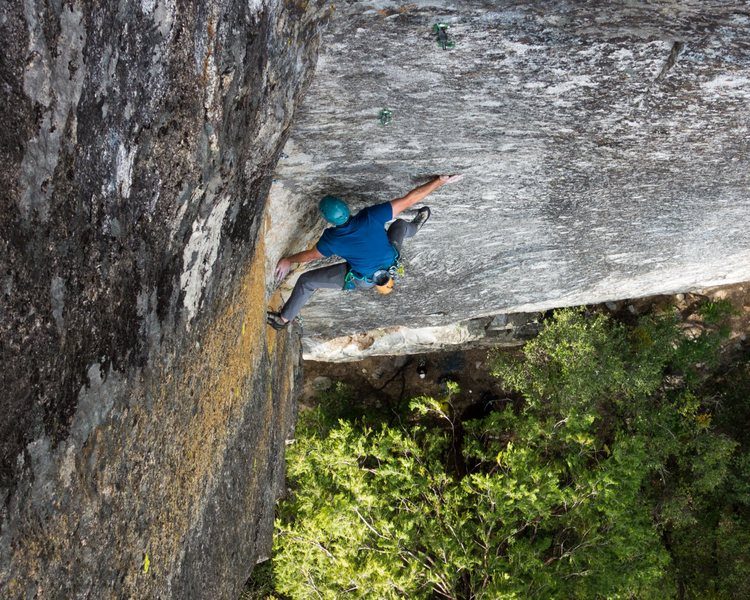 Rock Climbing Photo: First crux, but sums up the beta for this climb.  ...