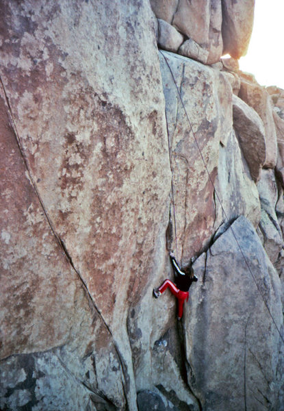 Rock Climbing Photo: Roy McClenahan, Thin Line FA, 1984