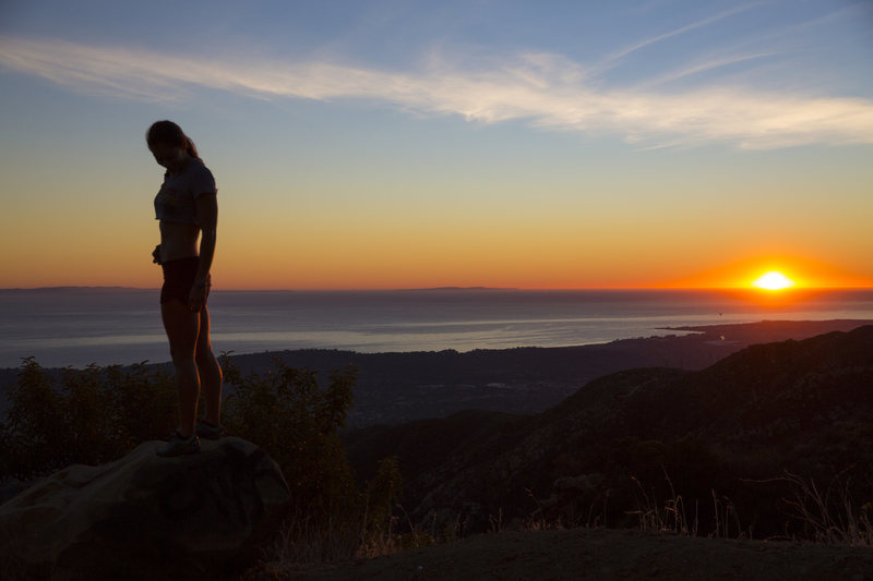 Rock Climbing Photo: Finishing a day of climbing at Gibraltar Rock in S...
