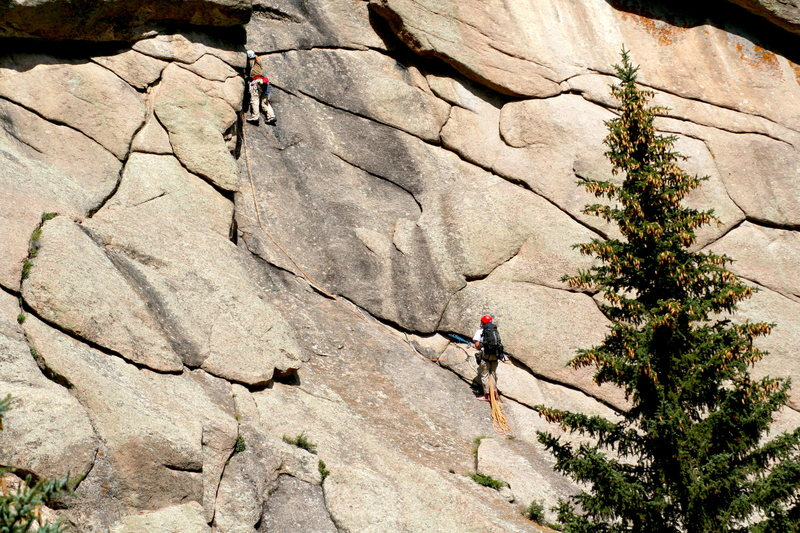 Rock Climbing Photo: Climbers on Pine Away.