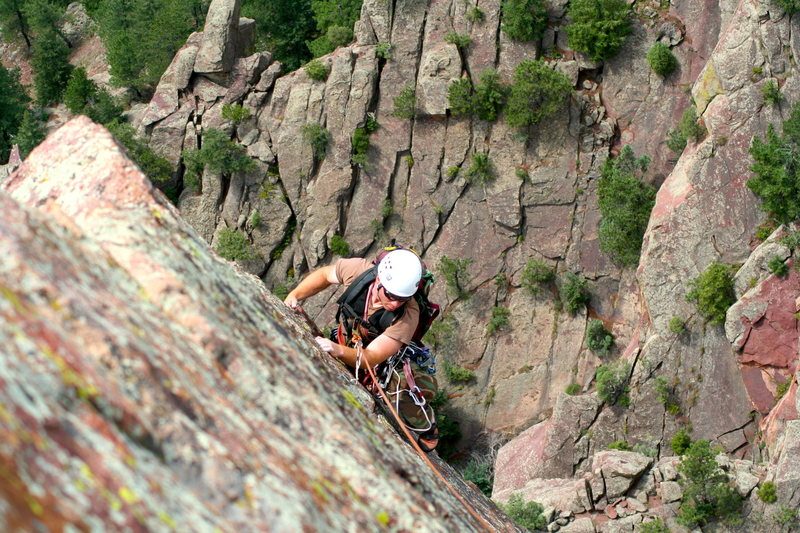 Rock Climbing Photo: Last pitch of Icarus / Yellow Spur.