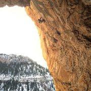 Rock Climbing Photo: Antione Aube on Glamorama.