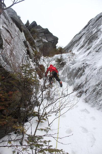 Rock Climbing Photo: Beginning of the 2nd pitch. Taken 2/21/2016