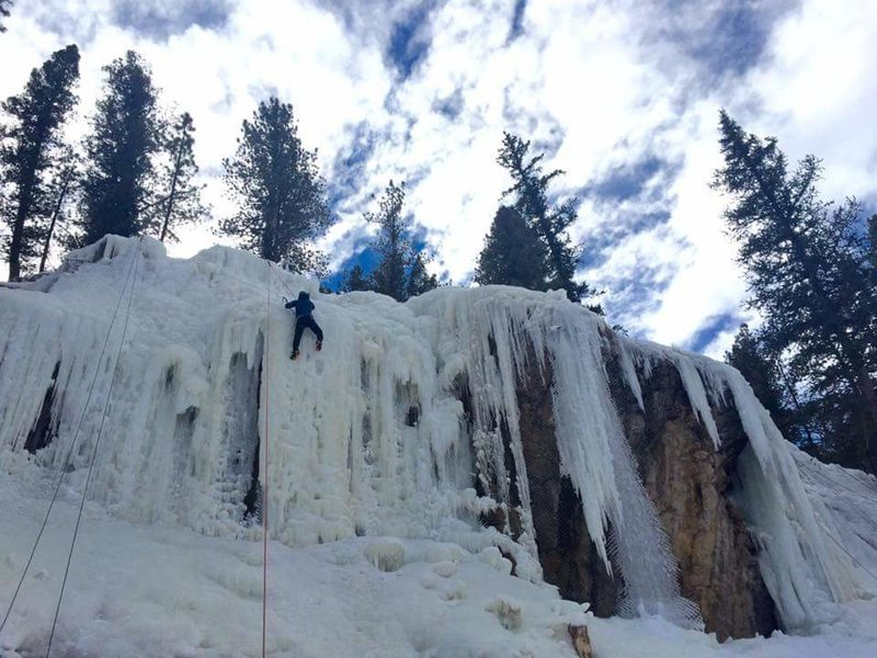 First day ice climbing