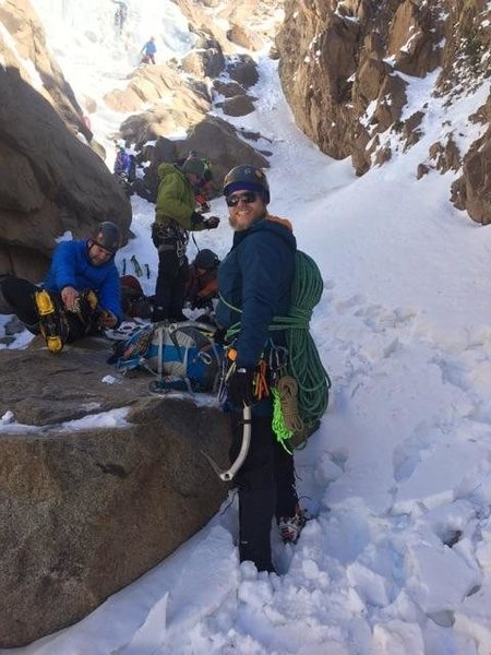 Rock Climbing Photo: Gearing up for Silverplume