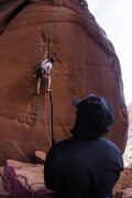 Rock Climbing Photo: Startin' up the good hands sect of Annunaki!