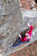 Rock Climbing Photo: Torie on the opening moves