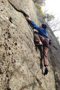 Rock Climbing Photo: Eveready, getting in to the undercling
