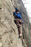 Rock Climbing Photo: Technical climbing on the lower half of Eveready
