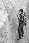 Rock Climbing Photo: Checking out the micro holds