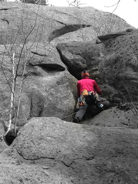 Rock Climbing Photo: Torie about halfway up